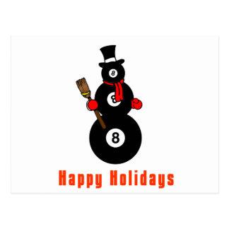 Muñeco de nieve de PoolChick buenas fiestas Tarjetas Postales