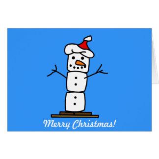 Muñeco de nieve de Smores del navidad Felicitaciones