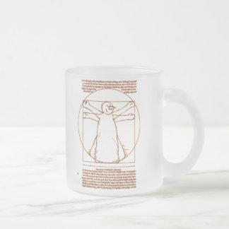 Muñeco de nieve de Vitruvian Tazas De Café