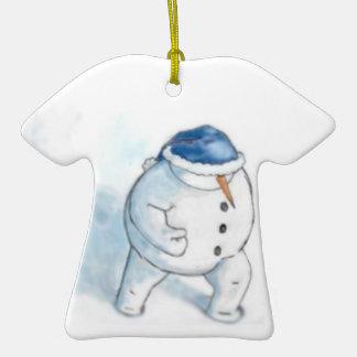 Muñeco de nieve de Yellowsnow Ornamentos De Navidad