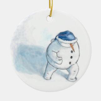 Muñeco de nieve de Yellowsnow Ornamento De Navidad