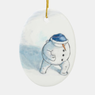 Muñeco de nieve de Yellowsnow Adorno De Reyes