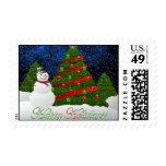 Muñeco de nieve del árbol de navidad envio
