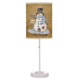 Muñeco de nieve del arte popular en el periódico v