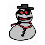 Muñeco de nieve del bandido postales