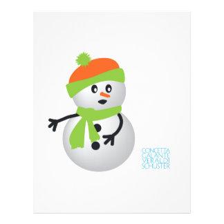 Muñeco de nieve del bebé tarjeta publicitaria