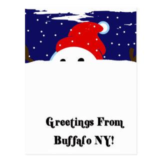 Muñeco de nieve del búfalo postal