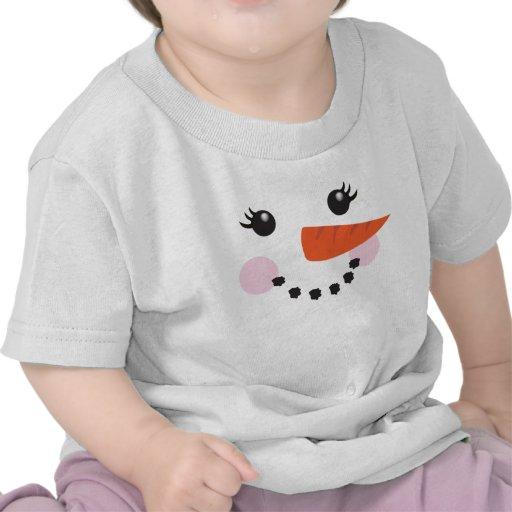 Muñeco de nieve del chica camiseta