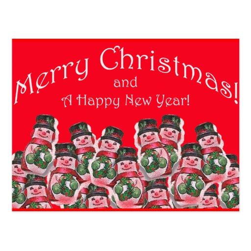 Muñeco de nieve del chocolate de la plantilla de l postales
