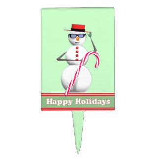 Muñeco de nieve del día de fiesta del navidad decoraciones para tartas