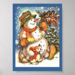 Muñeco de nieve del día de fiesta posters
