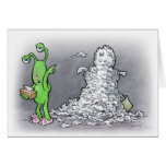 muñeco de nieve del día enfermo tarjeton