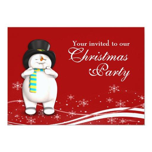 Muñeco de nieve del dibujo animado y fiesta de comunicado