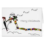 Muñeco de nieve del foro de despegue tarjeta