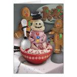 Muñeco de nieve del helado felicitación