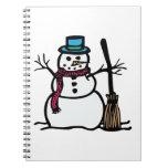 Muñeco de nieve del invierno libro de apuntes con espiral