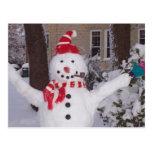 Muñeco de nieve del invierno postal
