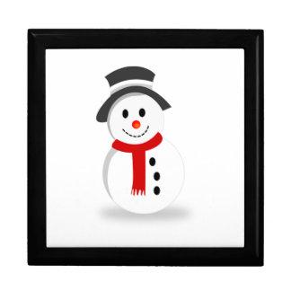 Muñeco de nieve del navidad cajas de recuerdo