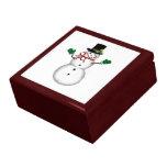 Muñeco de nieve del navidad cajas de regalo
