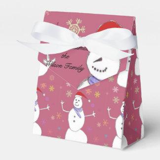 Muñeco de nieve del navidad cajas para regalos de boda