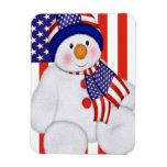 Muñeco de nieve del navidad de los E.E.U.U. Imán De Vinilo