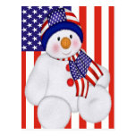 Muñeco de nieve del navidad de los E.E.U.U. Tarjetas Postales