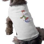 Muñeco de nieve del navidad del suéter del perro camisa de mascota