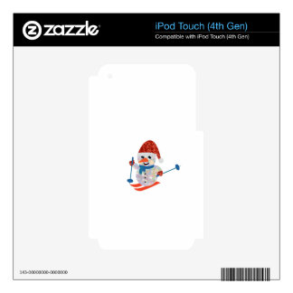 muñeco de nieve del navidad iPod touch 4G skins