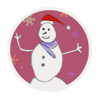 Muñeco de nieve del navidad obleas para galletas