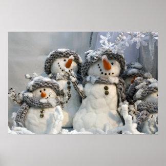 Muñeco de nieve del navidad poster