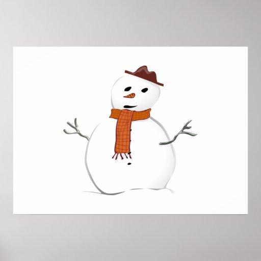 Muñeco de nieve del navidad póster