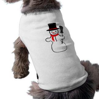 Muñeco de nieve del navidad ropa de perros