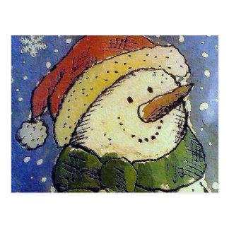 Muñeco de nieve del navidad postales