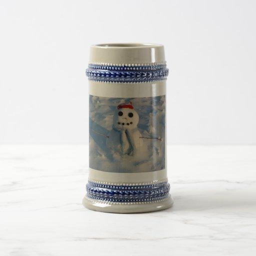 Muñeco de nieve del navidad tazas de café