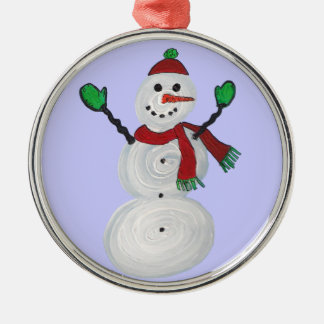 Muñeco de nieve del Ornamento-Navidad del navidad Ornamentos De Reyes