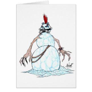 Muñeco de nieve del punk del gótico tarjeta de felicitación