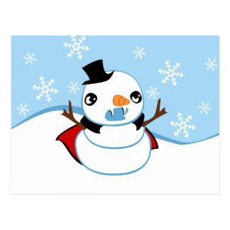 Muñeco de nieve del vampiro postal
