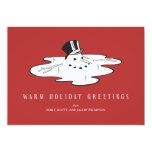Muñeco de nieve derretido - tarjetas divertidas invitación 12,7 x 17,8 cm