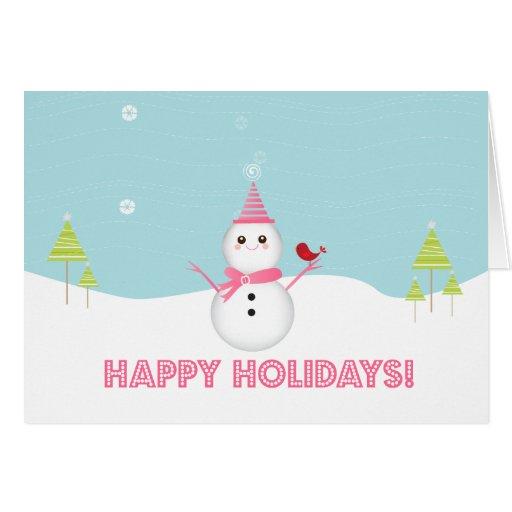 Muñeco de nieve dulce - tarjeta de felicitación
