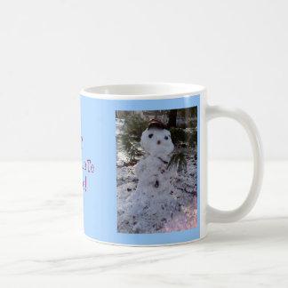 Muñeco de nieve dulce tazas de café