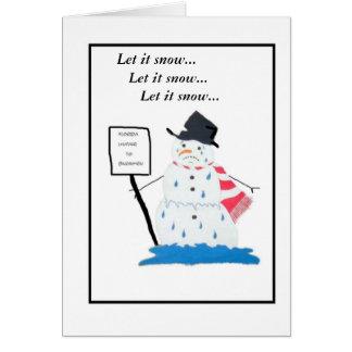 Muñeco de nieve en la Florida Tarjeta De Felicitación