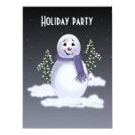 Muñeco de nieve en las nubes invitación 13,9 x 19,0 cm