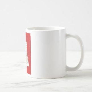 muñeco de nieve en rojo taza clásica