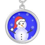 Muñeco de nieve en un gorra de Santa Grimpola Personalizada