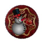 Muñeco de nieve encantado frascos de dulces