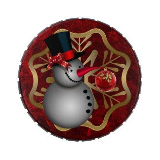 Muñeco de nieve encantado jarrones de caramelos