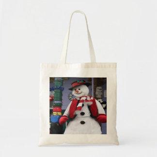 Muñeco de nieve escarchado bolsa tela barata