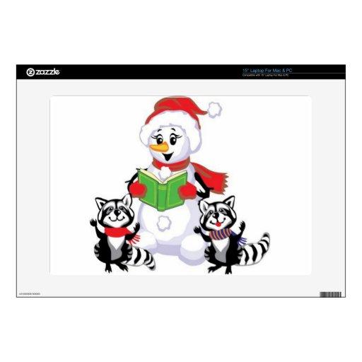 Muñeco de nieve, Felices Navidad Calcomanías Para 38,1cm Portátiles
