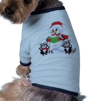 Muñeco de nieve, Felices Navidad Camisetas De Perrito