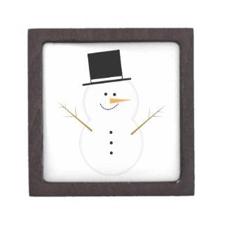 Muñeco de nieve feliz caja de recuerdo de calidad